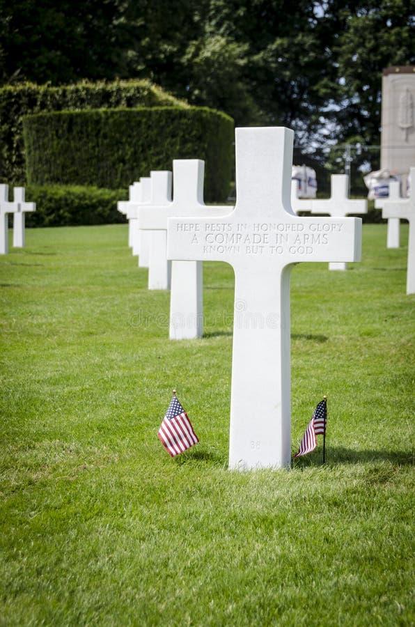 Memoriale di guerra americano del cimitero del Lussemburgo fotografia stock