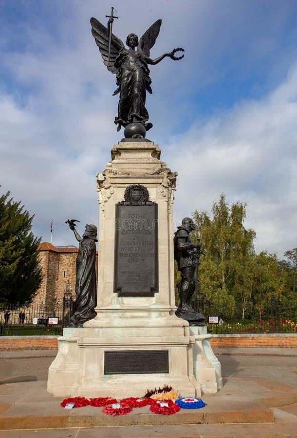 Memoriale di guerra di Colchester immagine stock libera da diritti