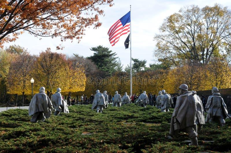 Memoriale di guerra di Corea sul centro commerciale nazionale immagine stock libera da diritti