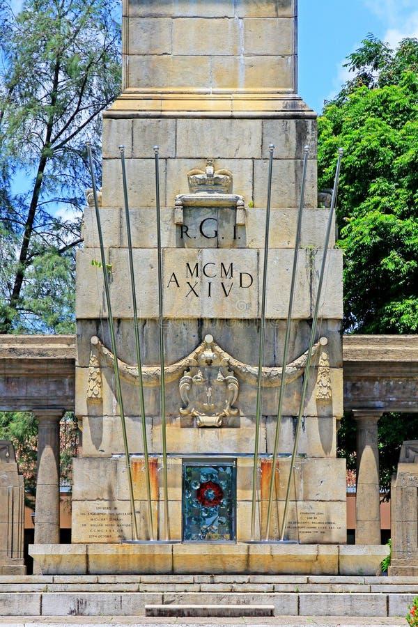 Memoriale di guerra del cenotafio, Colombo, Sri Lanka immagini stock libere da diritti