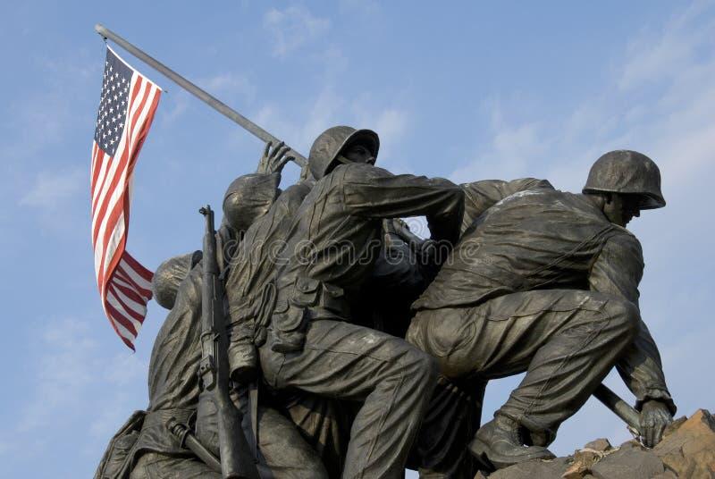 Memoriale di guerra del Corpo della Marina degli Stati Uniti immagini stock libere da diritti