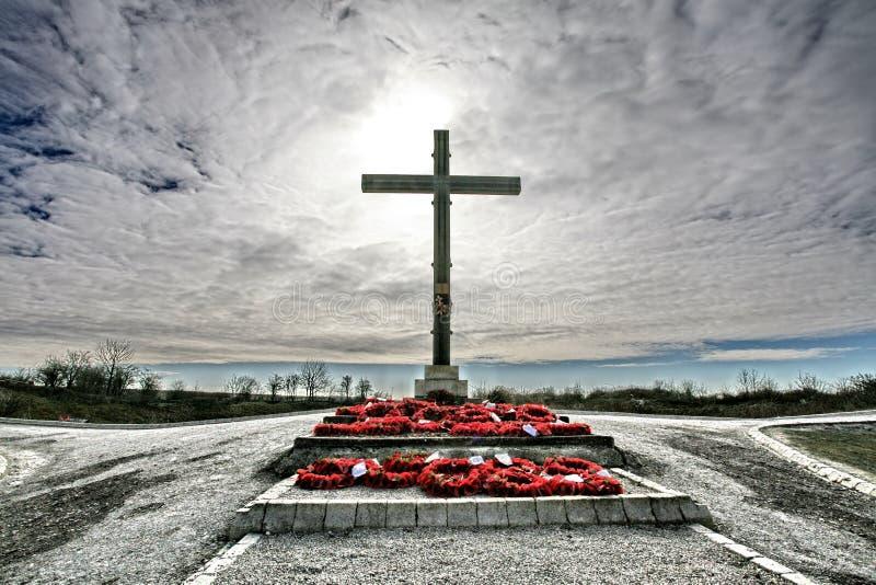 Memoriale di guerra del cratere di Lochnagar fotografie stock libere da diritti