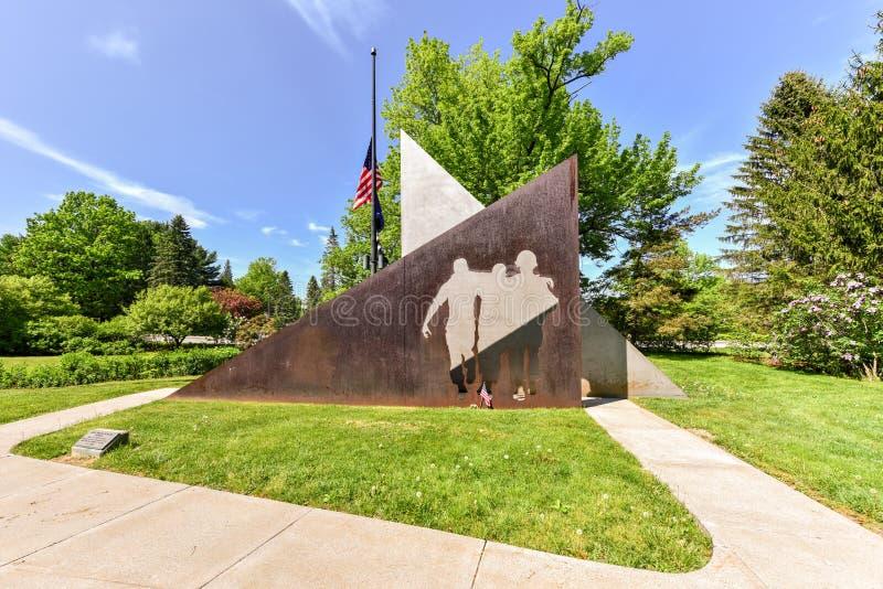 Memoriale di guerra del vietnam, parco del Campidoglio, Augusta, ME immagine stock