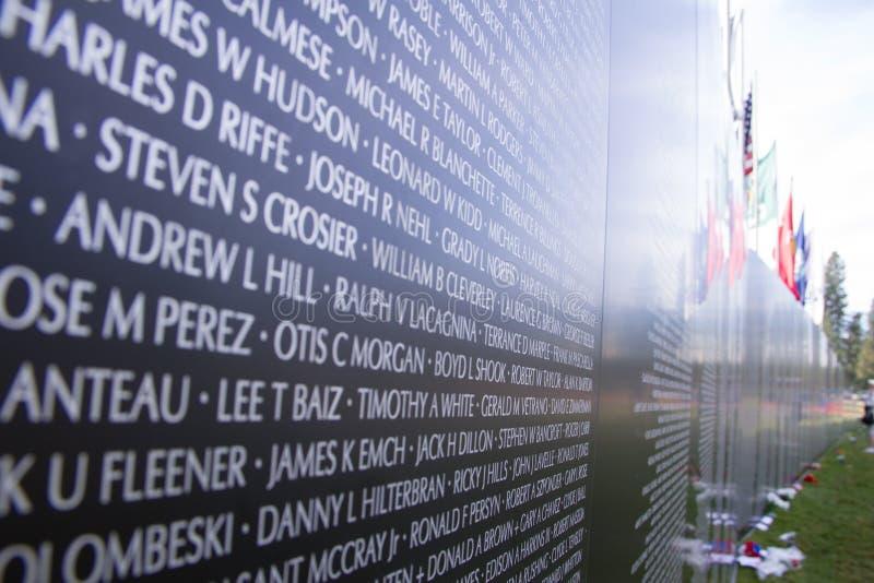 Memoriale di guerra del vietnam immagini stock