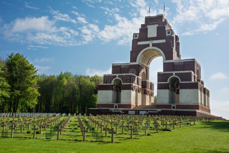Memoriale di guerra di Thiepval immagini stock