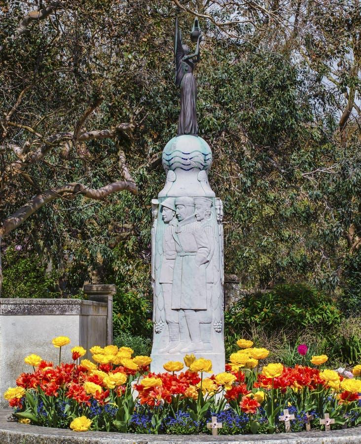 Memoriale di guerra Hythe, Risonanza, Inghilterra fotografia stock libera da diritti
