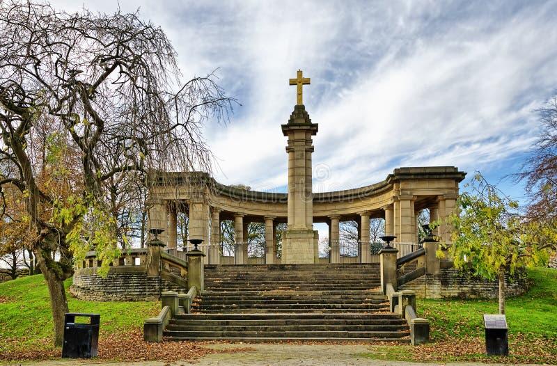Memoriale di guerra nel parco di Greenhead immagini stock libere da diritti