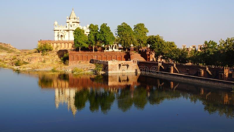 Memoriale di Jaswant Thada, Jodhpur, India. fotografia stock libera da diritti