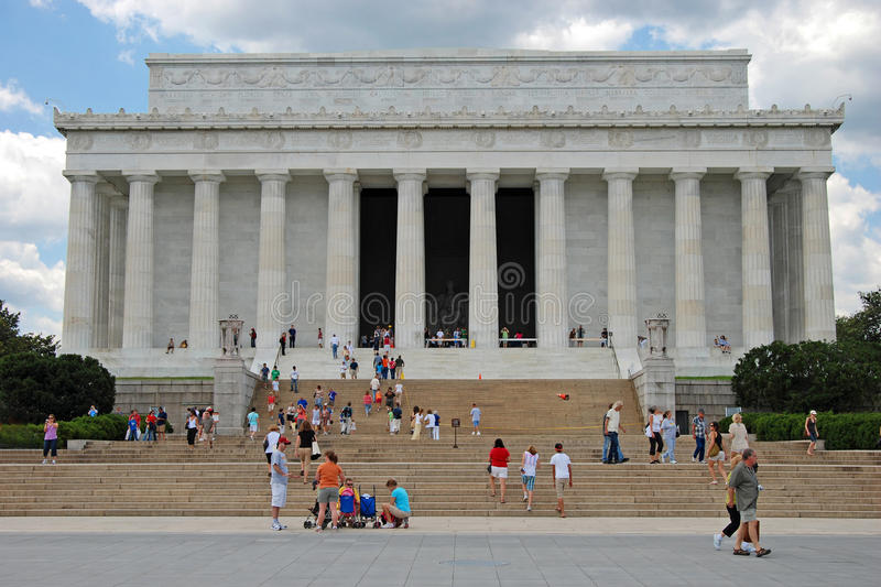 Memoriale di Lincoln in Washington DC fotografie stock