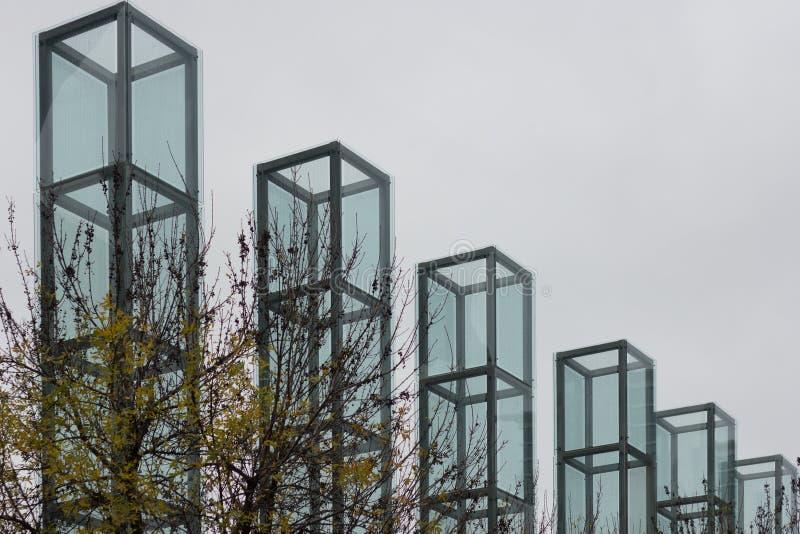 Memoriale di olocausto della Nuova Inghilterra, Boston, Massachusetts, il 24 ottobre 2014 fotografia stock libera da diritti