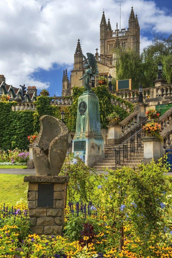 Memoriale di re Edward VII nel bagno, Somerset, Inghilterra fotografia stock libera da diritti
