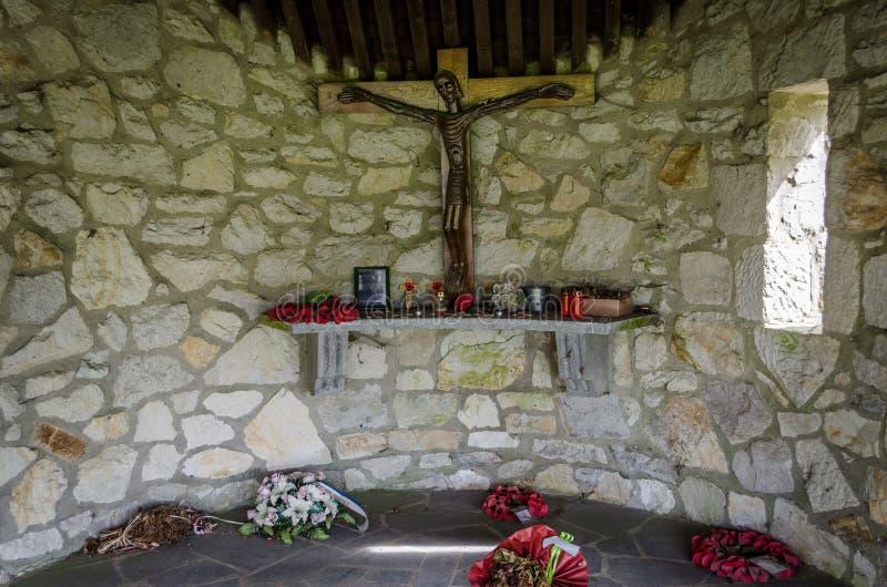 Memoriale di WWII in Malmedy fotografie stock libere da diritti