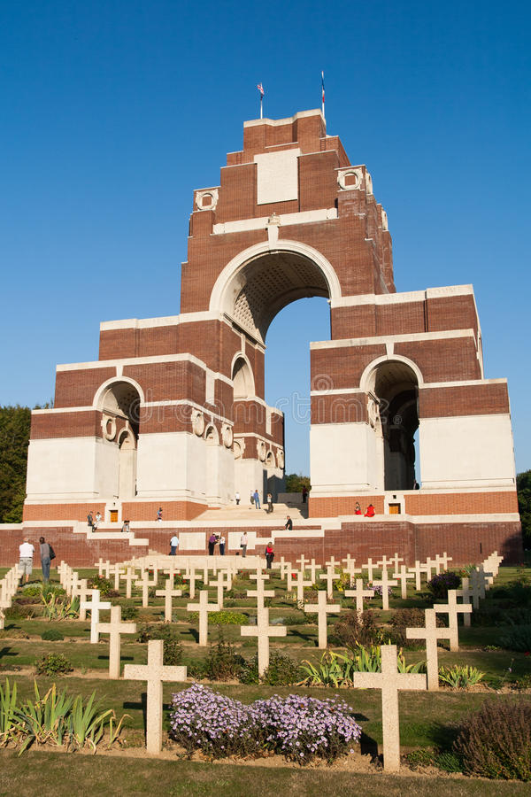 Memoriale Francese-britannico di Thiepval fotografie stock libere da diritti