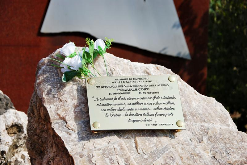 Memoriale a generale Reverberi fotografie stock