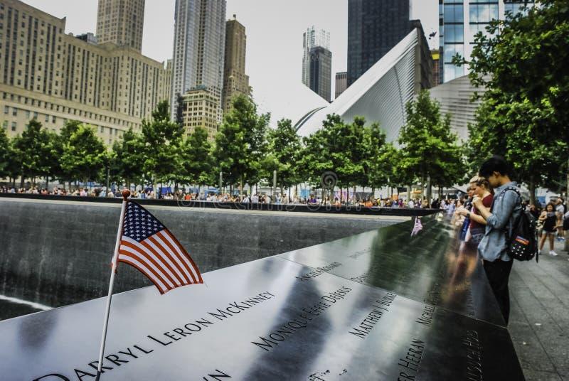 Memoriale nazionale dell'11 settembre, New York fotografie stock libere da diritti