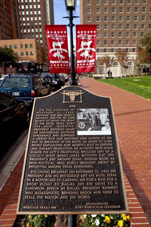 Memoriale nel valore di Ft, il Texas di JFk immagini stock