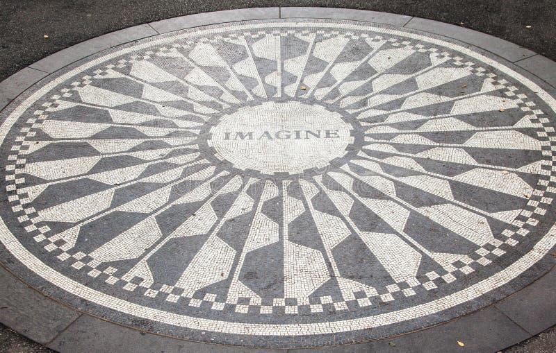 Memoriale New York City di Strawberry Fields immagine stock