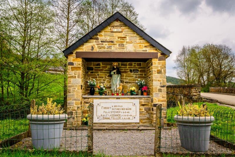 Memoriale per le vittime dei nazis nelle Ardenne fotografie stock libere da diritti