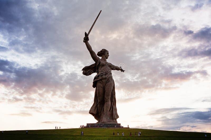 Memoriale russo della seconda guerra mondiale di Mamaev Kurgan fotografia stock libera da diritti