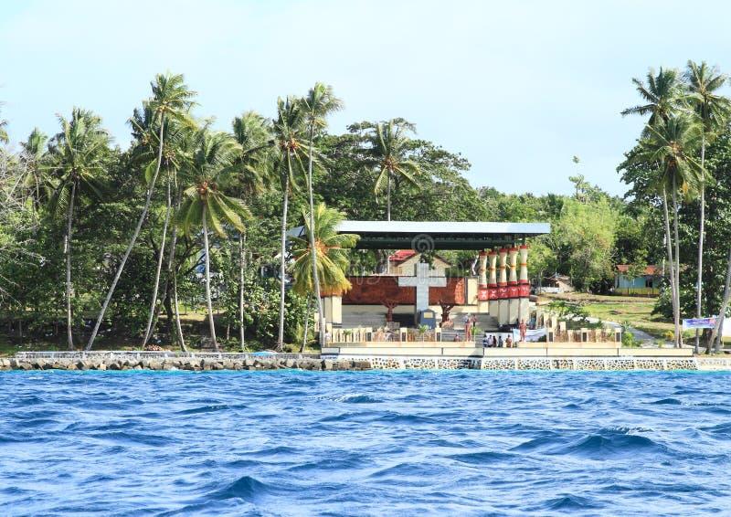 Memoriale sull'isola di Mansinam immagini stock