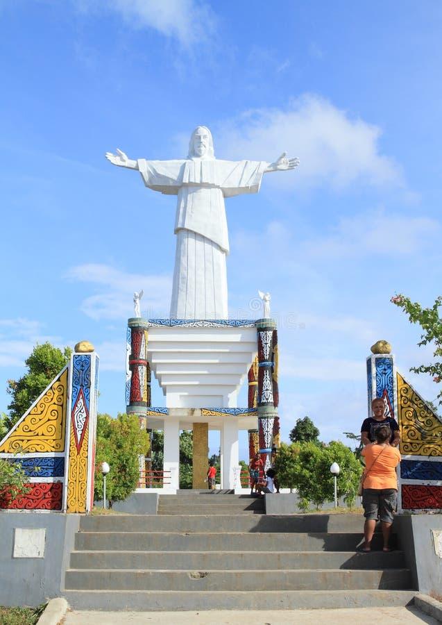 Memoriale sull'isola di Mansinam - Gesù immagine stock