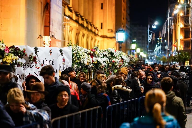 In memoriam av död av konungen Mihai av Rumänien arkivfoton