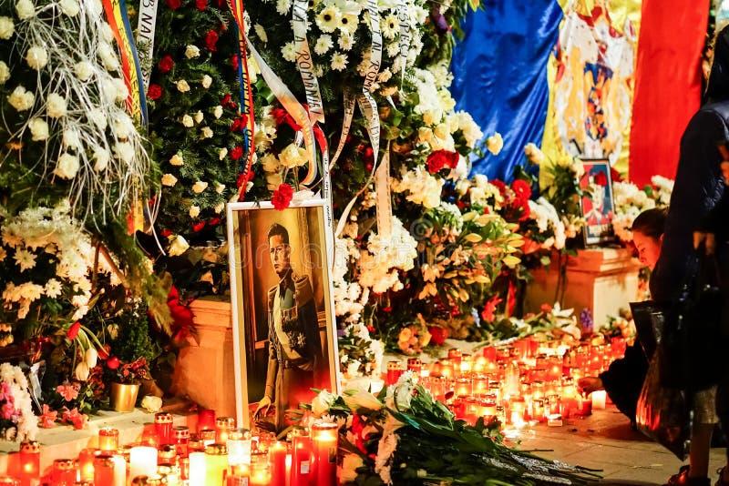 In memoriam de la mort du Roi Mihai de la Roumanie images libres de droits