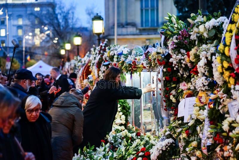 In memoriam della morte di re Mihai della Romania fotografia stock