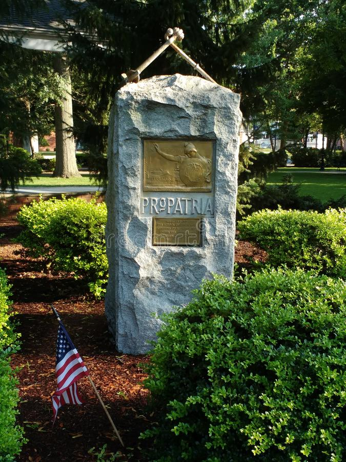 USS Maine Monument, Pro Patria, Rutherford, NJ, USA stock photo