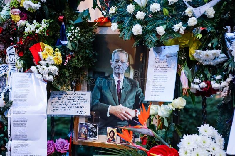 In memoriam vom Tod von König Mihai von Rumänien lizenzfreies stockfoto