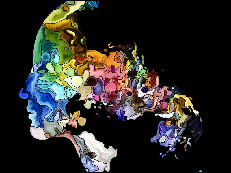 Memorias de la fragmentación del uno mismo ilustración del vector