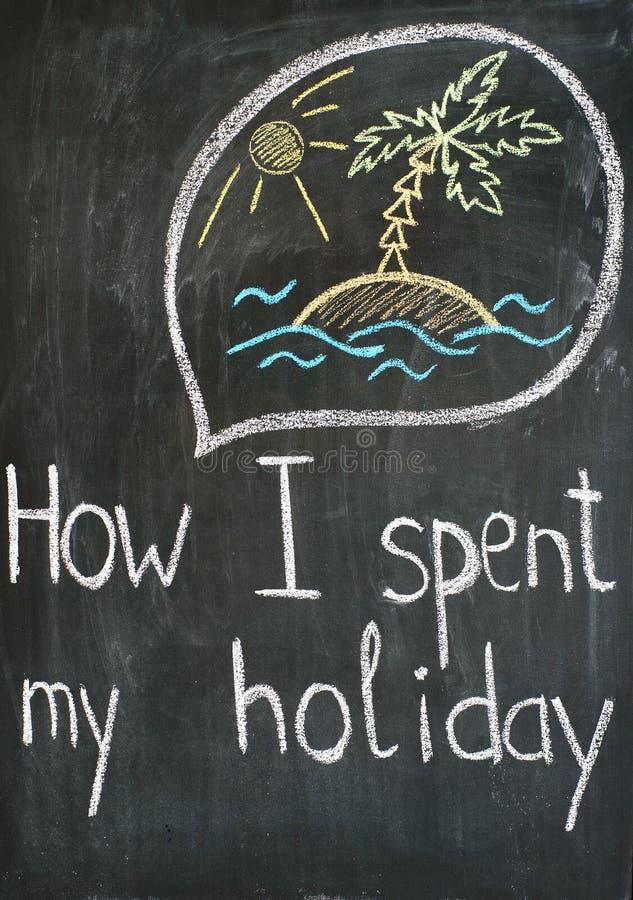 Memorias de vacaciones ilustración del vector