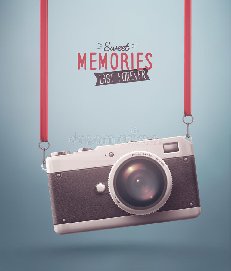 Memorias dulces ilustración del vector