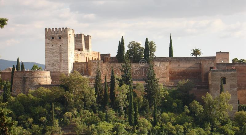 Memorias moras - Alhambra espectacular imágenes de archivo libres de regalías