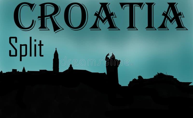 Memorias partidas de Croacia stock de ilustración
