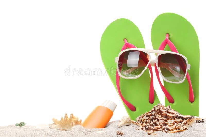Memorie di vacanze estive dalla spiaggia immagini stock
