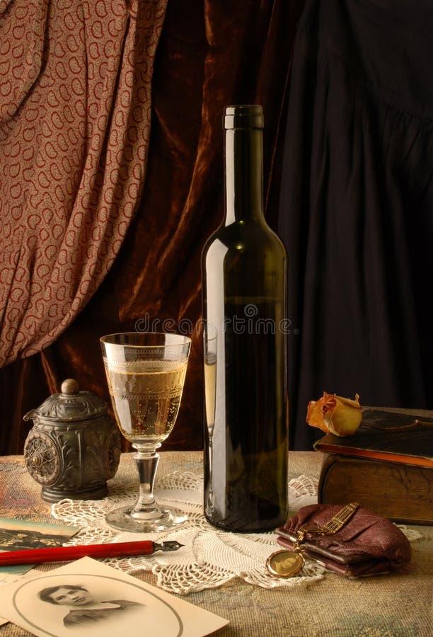 Memorie e vino immagine stock libera da diritti