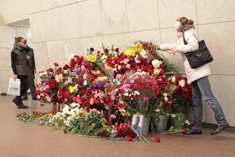 Memorie la vittima alle azioni terroristiche fotografia stock