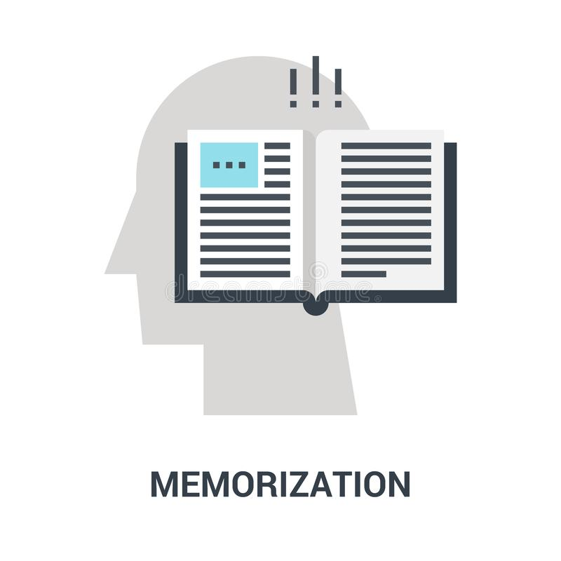Memorierenikonenkonzept lizenzfreies stockbild