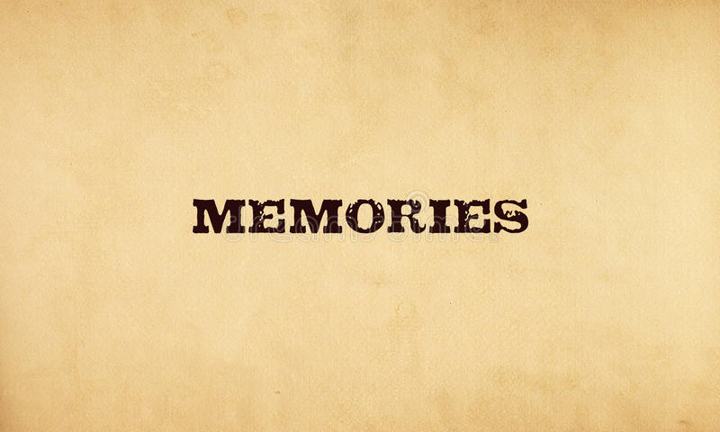 Memories stock illustration