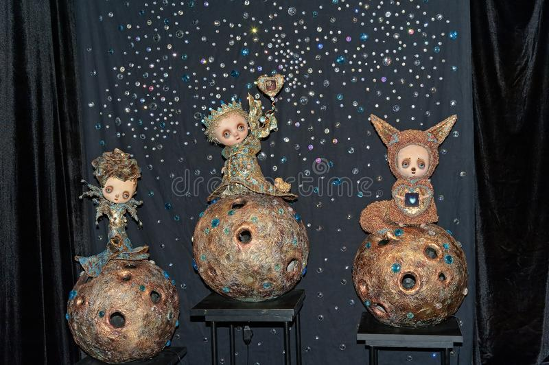 Memories of Little Prince, OOAK set of dolls by Marina Zimina Ukraine. Memories of Little Prince OOAK set of dolls by Marina Zimina Ukraine at Fashion Doll V royalty free stock photo