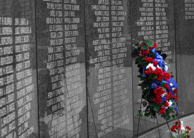 Download In Memory stock photo. Image of solemn, patriotic, wall - 109384
