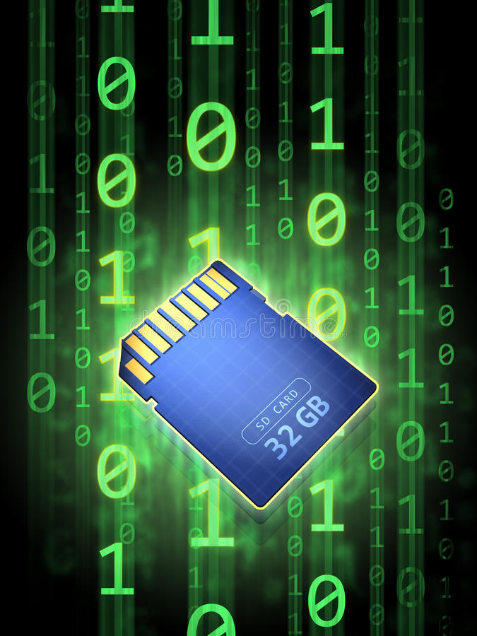 Download Memory card stock illustration. Image of close, compact - 26206445