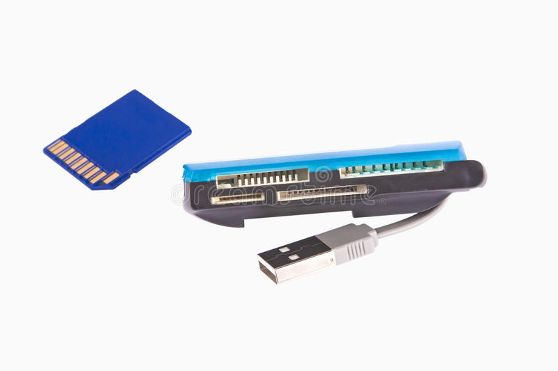 Download Memory Card And Universal Card Reader With USB Stock Image - Image of path, capacity: 17445337