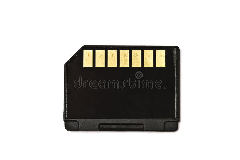 Memory card on white background royalty free stock photo