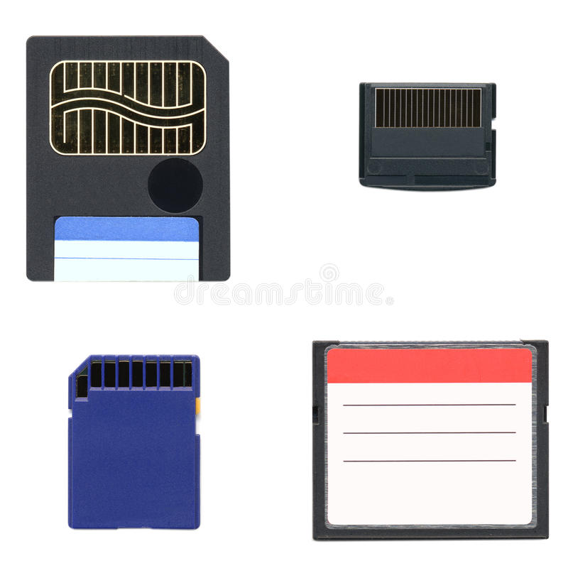 Download Memory cards stock illustration. Image of flash, solid - 23910522