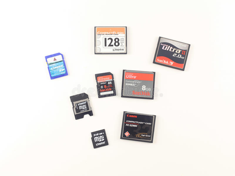Memory Cards Editorial Stock Image