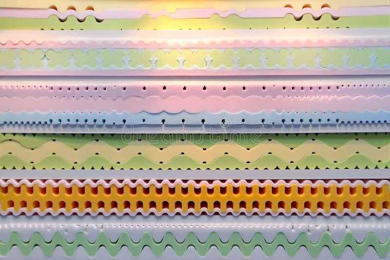 Memory foam mattress stock image