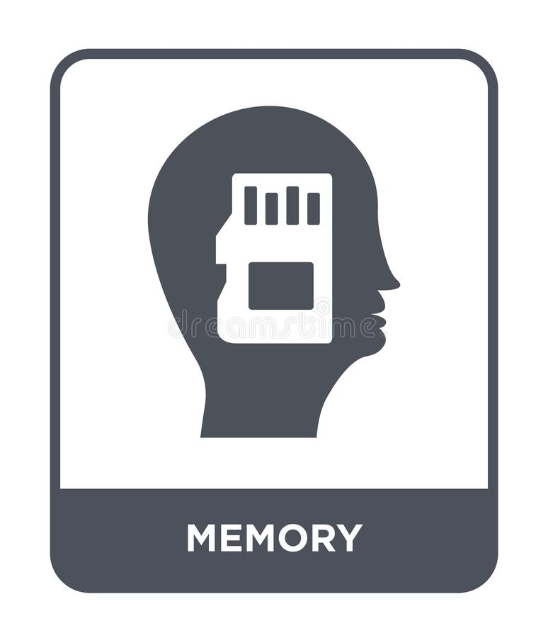 Memory icon in trendy design style. memory icon isolated on white background. memory vector icon simple and modern flat symbol for. Web site, mobile, logo, app stock illustration