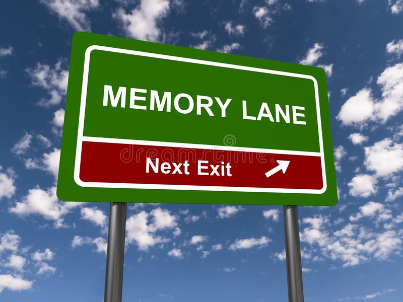 Memory Lane Sign royalty free stock photo
